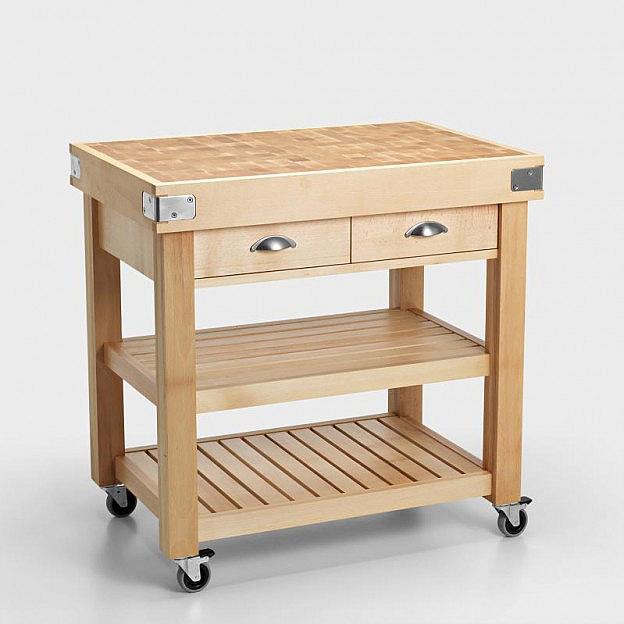 Küchenwagen mit Hackblock - Biber.com