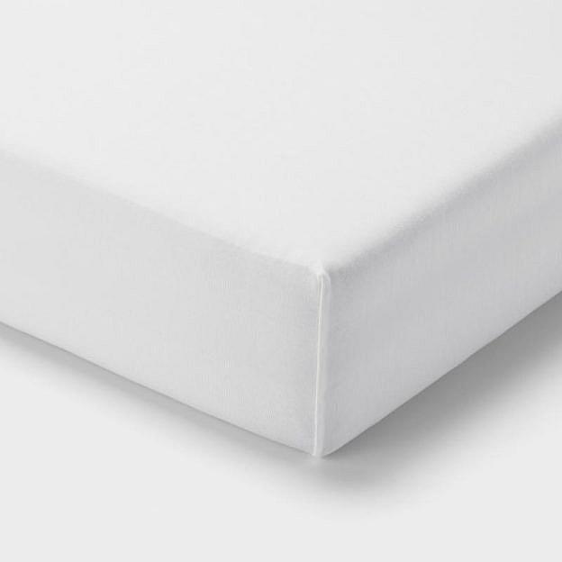 Spannleintuch Baumwolle, weiß