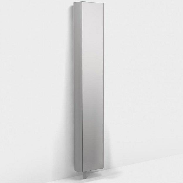 Drehregal mit Spiegel, weiß, 35 cm