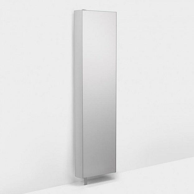 Drehregal mit Spiegel, weiß, 51 cm