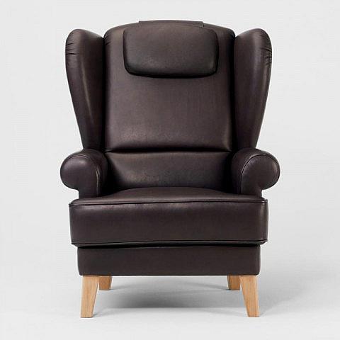 der ohrensessel leder. Black Bedroom Furniture Sets. Home Design Ideas