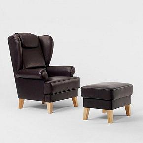 kopfkissen leder zum ohrensessel. Black Bedroom Furniture Sets. Home Design Ideas