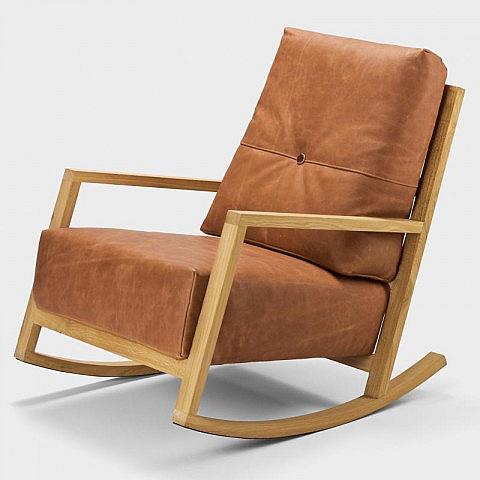schaukelsessel wasserb ffelleder eiche biber. Black Bedroom Furniture Sets. Home Design Ideas
