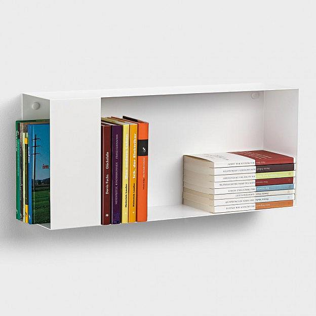 Wandbücherregal zweiseitig Stahl