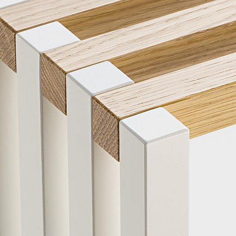 faltbares regal eiche wei. Black Bedroom Furniture Sets. Home Design Ideas