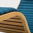 Tiefenentspannungsliege Eiche mit Baumwollbezug, blau