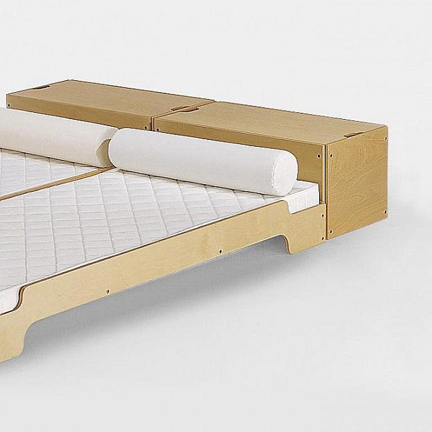 Bettkasten zum Stapelbett Buche