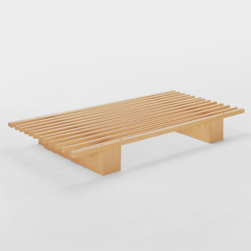 Variables Einzel- und Doppelbett aus Holz - Biber.com