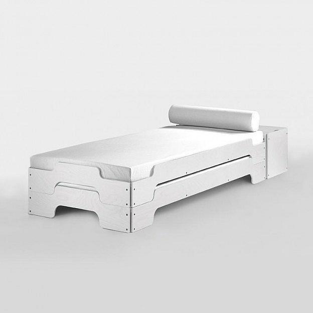 Stapelbett Modular MDF, weiß