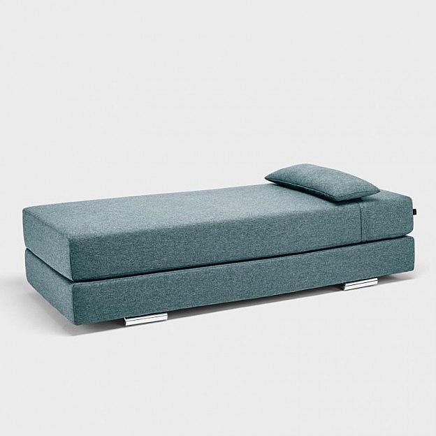 Schlafsofa Ilias, grau-blau