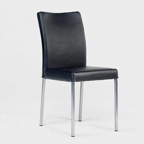 stuhl edelstahl leder. Black Bedroom Furniture Sets. Home Design Ideas