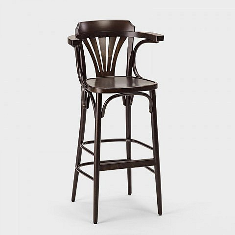 Ton barhocker nr 135 mit armlehne for Thonet barhocker