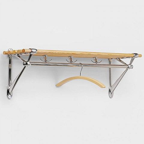 garderobe aluminium eiche mit hutablage. Black Bedroom Furniture Sets. Home Design Ideas