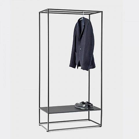 Garderobe stahl schwarz for Garderobe schwarz