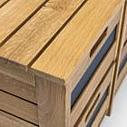 Holzbank mit 6 Ordnungsboxen, Eiche