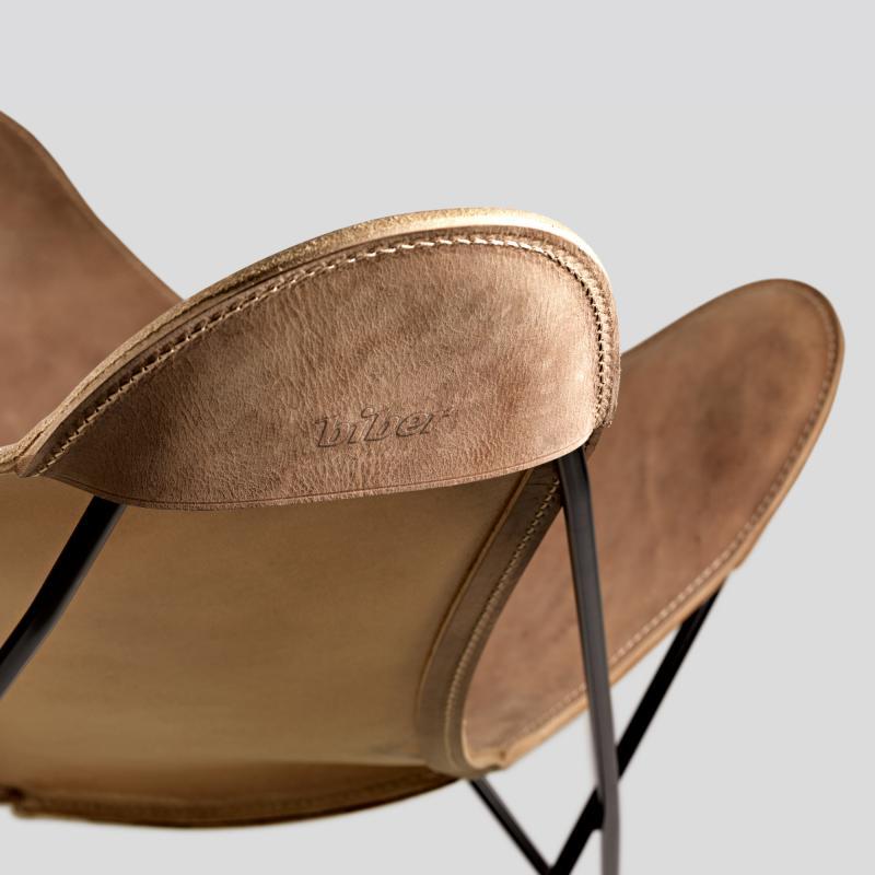 Hardoy-Butterfly-Chair Blankleder Vintage - Biber.com