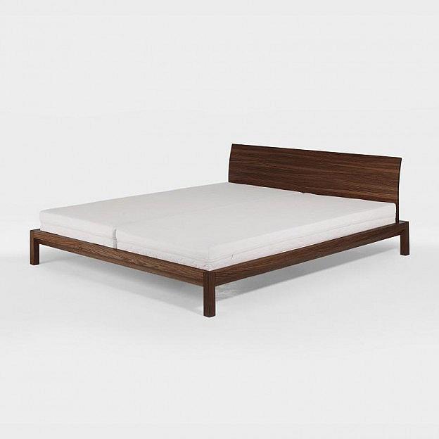 Bett Valentino Nuss 140 x 200 cm