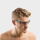 Fahrradbrille fotochromatisch, blau