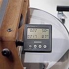 Ruderergometer Walnussholz geölt mit Leistungsmonitor