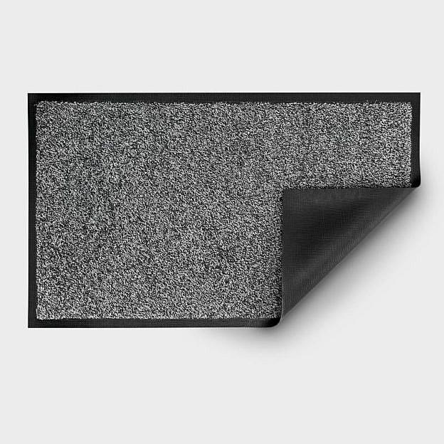 Gewerbe-Fußmatte waschbar, Gummi, schwarz/weiß