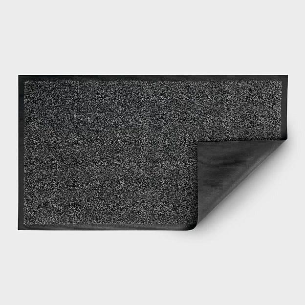 Gewerbe-Fußmatte waschbar, Gummi, granit