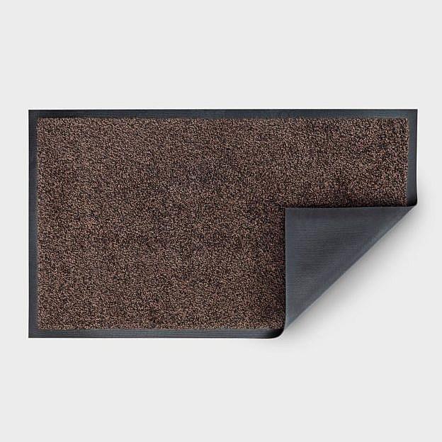 Gewerbe-Fußmatte waschbar, Gummi, schwarz/braun