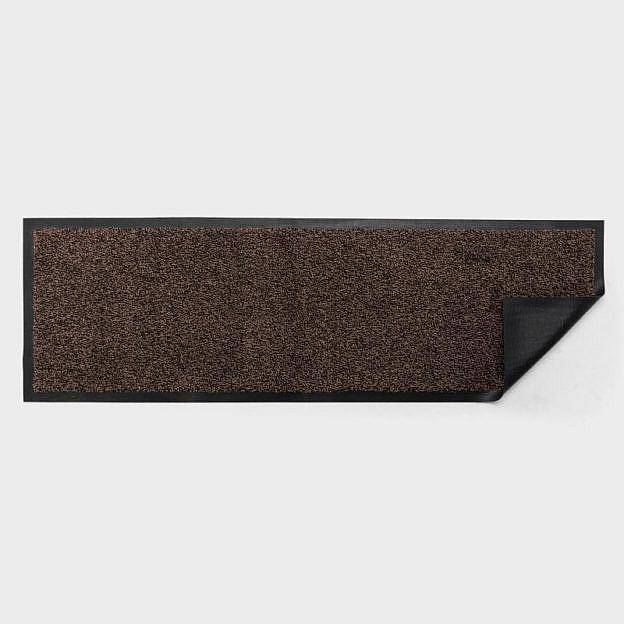Schuh-bzw. Garderobenmatte waschbar, Gummi, schwarz/braun