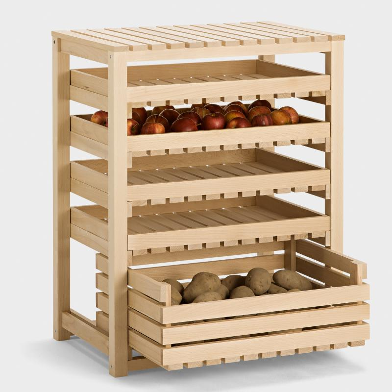 Vorratsregal Holz obst und gemüsehorde buche biber com
