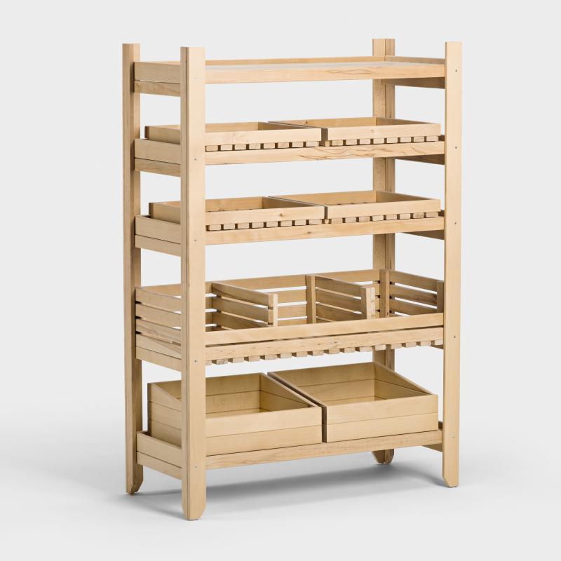praktische wandregal fur kuche obst und gemuse ubersichtlich ordnen wohnideen. Black Bedroom Furniture Sets. Home Design Ideas