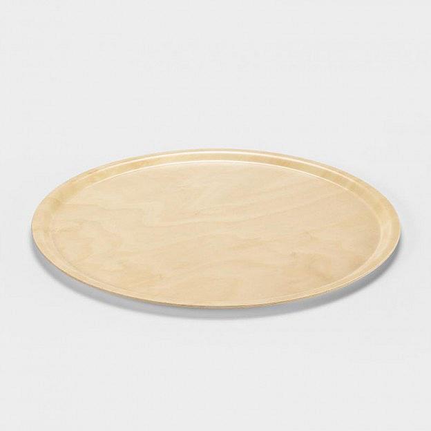 Tablett rund, Birkensperrholz