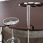 Fondueaufsatz-Set für Weinfass, Stahl