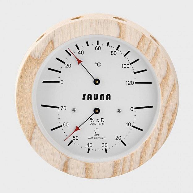 Sauna-Klimamesser, Eschenholz