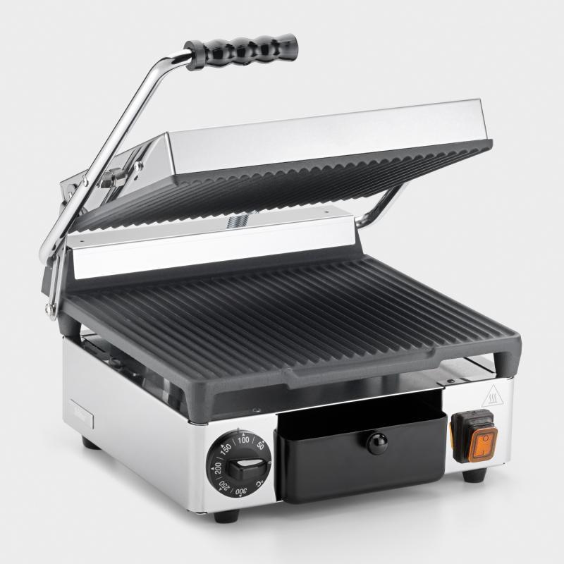 Kontaktgrill und Panini-Toaster Edelstahl - Biber.com