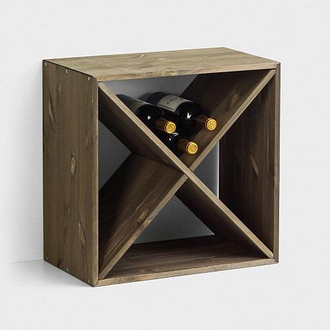 weinregal w rfel f r 24 flaschen. Black Bedroom Furniture Sets. Home Design Ideas