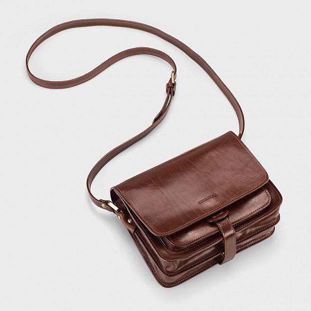 Damenhandtasche Rindsleder, Magnetverschluss