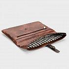 Notebook- und Tablettasche, Rindsleder vintage