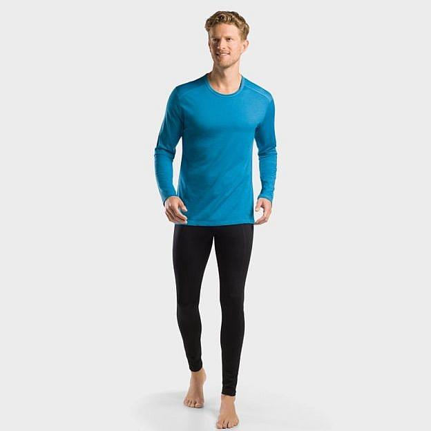 Herren-Funktions-Shirt langarm, blau