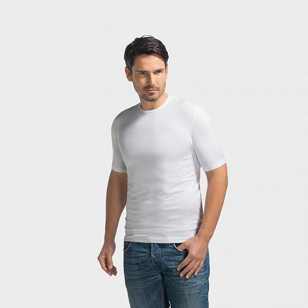Rundhals-Shirt Viskose Stretch