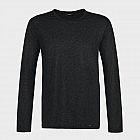 Hanro-Herrenshirt langarm, schwarz