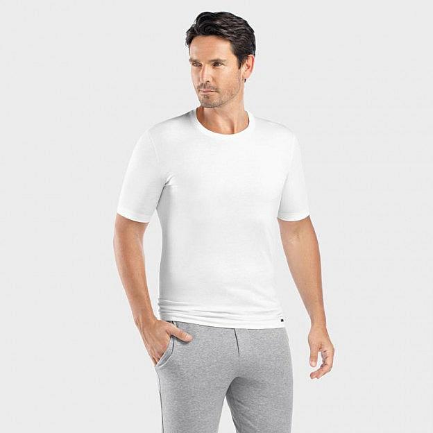 Hanro-Herrenshirt kurzarm, weiß
