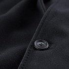 Herren-Car-Coat, Merinowolle, schwarz