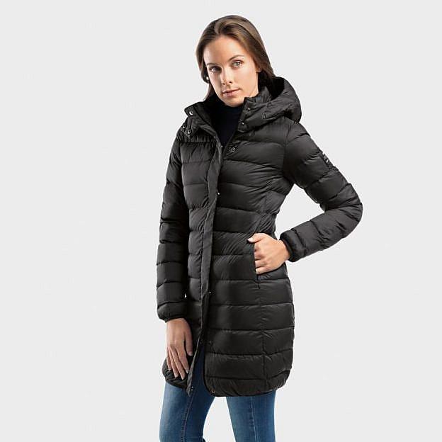buy online 9e584 d0fa4 Ecoalf-Damen-Daunenmantel, schwarz