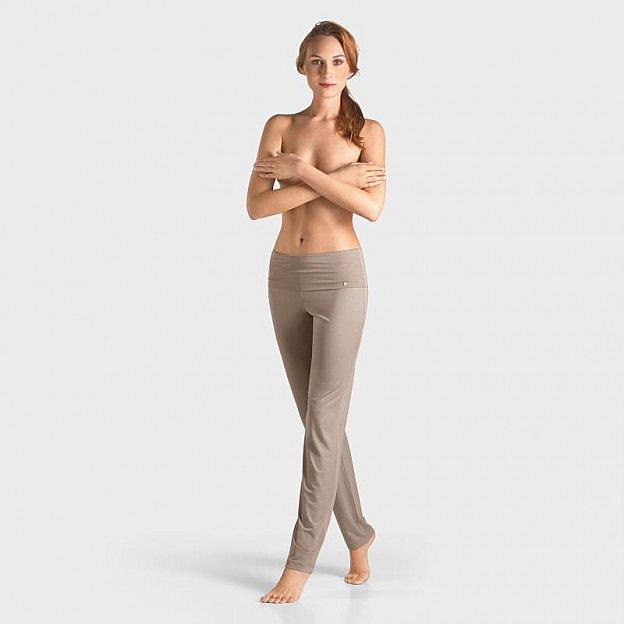 Yoga-Hose lang Micromodal, taupe
