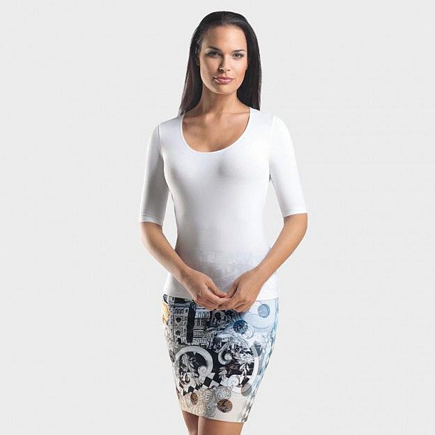 T-Shirt ½-Arm Viskose, weiß