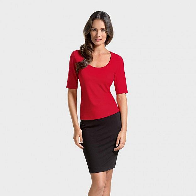 T-Shirt ½-Arm Viskose, rot