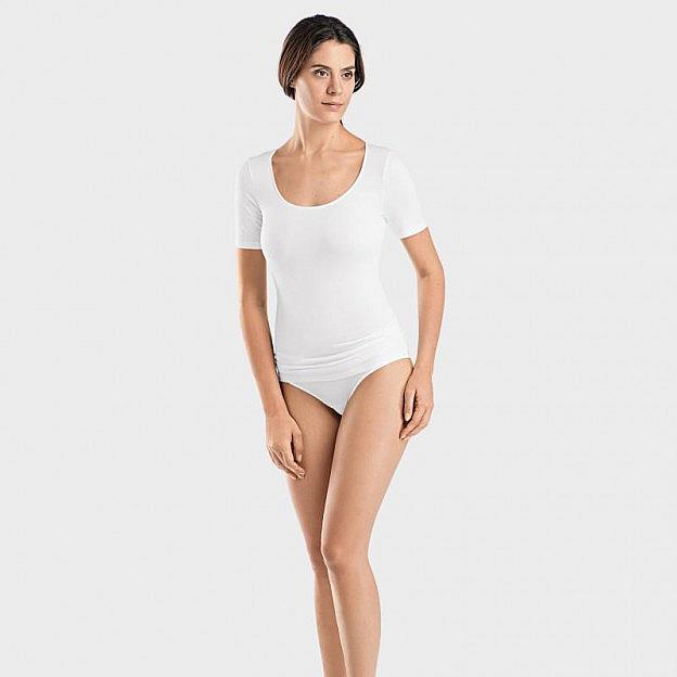 Hanro-Damenshirt 1/2-Arm, Sea Island, weiß
