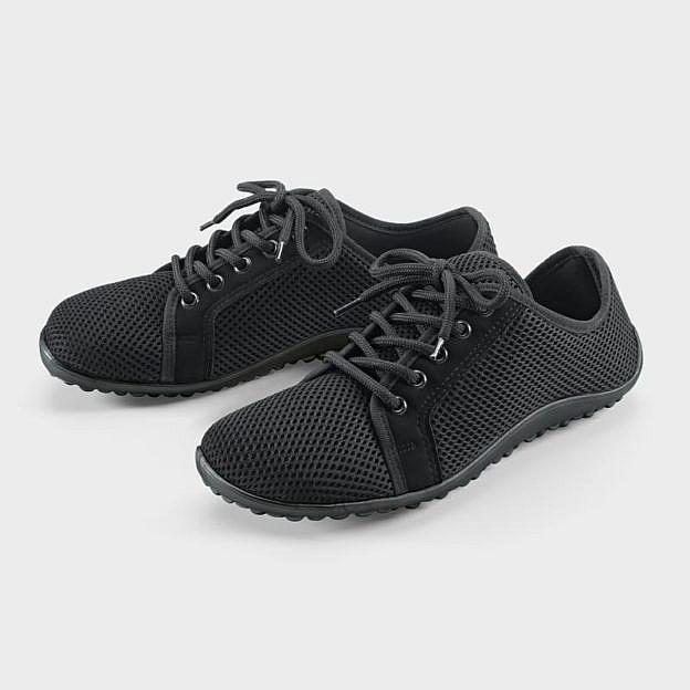 Barfuß-Schnürschuh, schwarz
