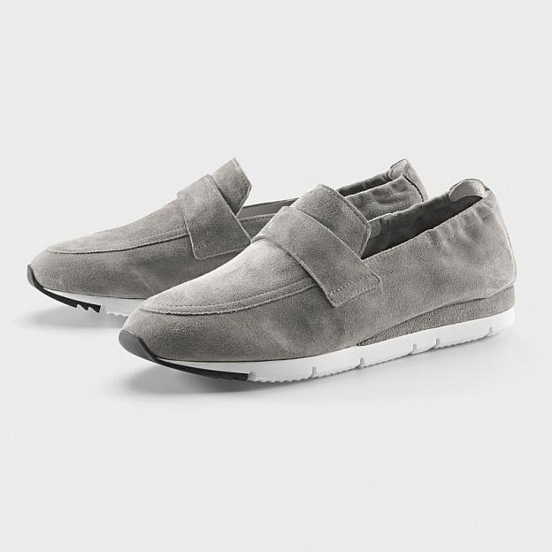 Damen-Slipper Veloursleder