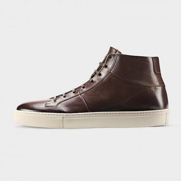 the latest 8a08c ddb7c Herren-Sneaker Rindsleder hoch, braun