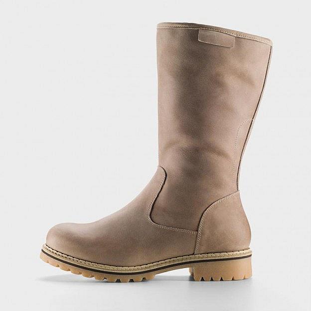 best sneakers d5473 3f4eb Damen-Lammfellstiefel Nubuk